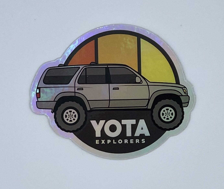 3rd Gen 4runner Holographic Decal Yota Explorers